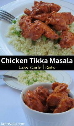 Chicken Tikka Masala Cauliflower Rice Low Carb Recipe