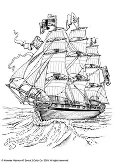 Tall ship graphic