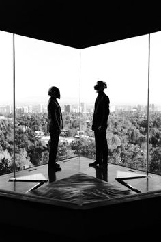Daft Punk at John Lautners Goldstein Residence in LA | Yellowtrace.