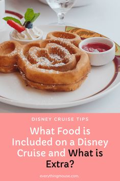 Disney Cruise. Is Food Included on a Disney Cruise? Learn which food is included and which you pay extra for on a Disney Cruise. Is the additional charge dining really worth it on a Disney Cruise? #DisneyCruise #DisneyCruiseTips #CruiseTips