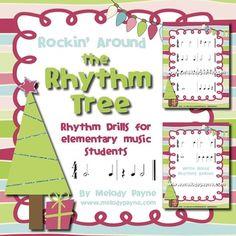 Rockin' Around the Rhythm Tree: Rhythm Drills for Elementary music students