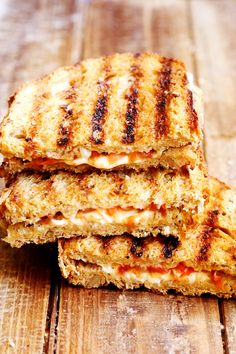 Tomato grilled cheese sandwich, would probably pair nicely with tomato soup.