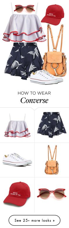 """""""Sunrise"""" by chelsofly on Polyvore featuring C/MEO COLLECTIVE, Chloé and Converse"""