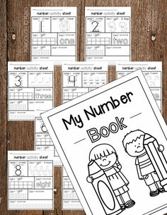 Awesome number book for kids! Such a fun way to practice number formation, counting, number concept and more. Perfect for preschool or kindergarten! Great way to work on number recognition! Numbers Preschool, Preschool Kindergarten, Preschool Worksheets, Preschool Learning, Teaching Math, Math Activities, Teaching Strategies, Kindergarten Math Journals, Number Recognition Activities