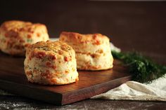 Cheddar Dill Biscuits by pastryaffair. I. Feel like this is something that Peeta would bake.