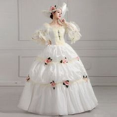 Victorian Ball Gowns, Victorian Costume, Victorian Style Dresses, Steampunk Costume, Victorian Gothic, Vestidos Vintage, Vintage Gowns, Party Dresses For Women, Bridal Dresses