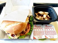 Chick-Fil-A is great for keeping macros low! This grilled chicken sandwich 8 piece grilled nuggets and 1 packet of their special sauce is 600 calories! 21f 50c 53p  by chikevin22