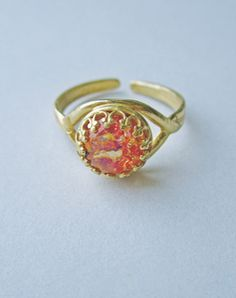 Image of Caelia - Vintage Fire Opal Ring