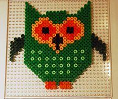 Eule / Owl hama perler beads