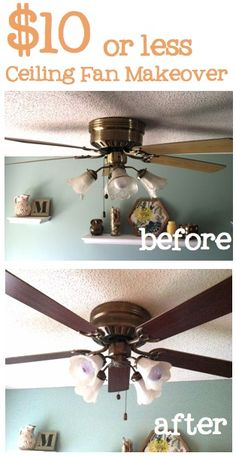 Easy and cheap way to make your ceiling fan look different.
