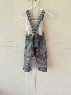 Baby Boy Linen Overalls / Custom made Linen Baby by skadoodlee