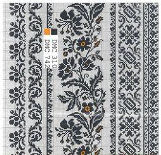 Cross Stitch Borders, Cross Stitch Art, Cross Stitch Samplers, Cross Stitching, Cross Stitch Embroidery, Cross Stitch Patterns, Border Embroidery Designs, Embroidery Patterns, Mittens Pattern