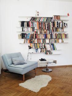 My Bedroom (Dana Rogoz) Bookshelves, Bookcase, Art Nouveau, Minimalism, Living Room, Interior Design, Bedroom, Modern, Home Decor