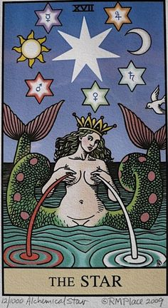 The Star, a tarot card that will appear when the glimmer of hope is about to shine, when your generosity of spirit is making an impact and when your peace of mind has elevated your consciousness to the benefit of those around you.