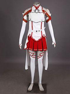 Sword Art Online Sao Asuna Yuuki Cosplay Costume