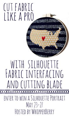 cutting fabric with the silhouette