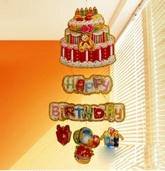 HAPPY BIRTHDAY Hanging Paper Birthday Baby Banner Bunting Decoration  16091901
