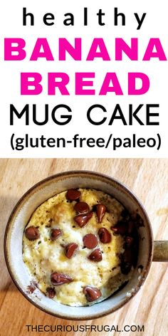 This is a must-try healthy snack! A super easy microwave mug cake thats so delicious and gluten-free too! This is a must-try healthy snack! A super easy microwave mug cake thats so delicious and gluten-free too! Microwave Banana Bread, Banana Bread Mug, Mug Cake Microwave, Healthy Banana Bread, Microwave Desserts, Single Serve Cake, Single Serve Desserts, Low Carb Brownie Recipe, Brownie Recipes
