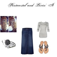 """Fall Pentecostal Outfit"" by miniaturebride on Polyvore"