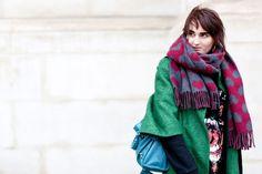 Heart print scarf | Street #Fashion @ Couture Spring Summer 2013 #Paris #HauteCouture