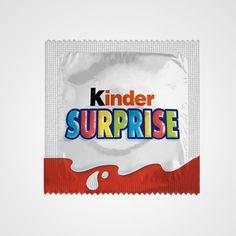 detournements de logos de grandes marques kinder surprise   Détournements de logos de grandes marques par Ilya Kalimulin   photo parodie log...