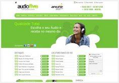 Agência Artweb é responsável pelo desenvolvimento site Audiofive Produções, Produtora de Áudio de São Paulo.