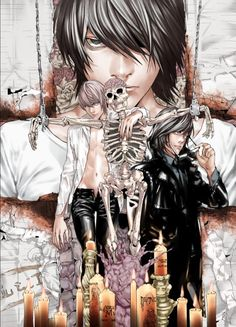 Let's spread DEATH NOTE to all over the world with us to get an anime stuff you want free. Death Note Anime, L Death Note, Manga Art, Anime Manga, Anime Art, Amane Misa, Nate River, L Lawliet, Light Yagami