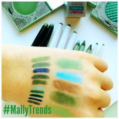 So many fun bright blues and gorgois greens!! #MallyTrends