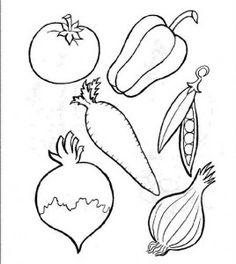 Vegetables coloring pages part 3