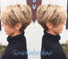 Short haircut. Asymmetrical short hair. Pixie-like cut.