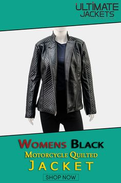 Black Biker Quilted Leather Jacket For Women. #Womens #Black #Leather #Jacket #Motorcycle #BikerGirl #BlackLeatherJacket #smart #cool #swag #outfit #womensfashion #stylish #NewArrival #Valentines #Sale #Discount #Offer #ShopNow Quilted Leather, Quilted Jacket, Motorcycle Jackets, Valentines Sale, Biker Girl, Shop Now, Jackets For Women, Swag, Black Leather