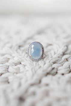 Blue Gemstone Engagement Ring   Christie Graham Photography   Asheville Destination Wedding Inspiration in the Blue Ridge Mountains