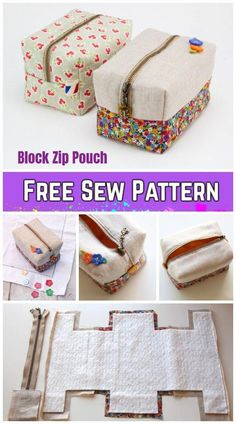 DIY Block Zip Pouch Sewing Pattern Tutorial with Template DIY Bl . - DIY Block Zip Pouch Sewing Pattern Tutorial with template DIY Block Zip Pouch sewing pattern tutorial with template, # Image titled Knit Step 23 - Diy Sewing Projects, Sewing Projects For Beginners, Sewing Tutorials, Sewing Hacks, Sewing Crafts, Sewing Tips, Diy Bags Sewing, Makeup Bag Tutorials, Diy Makeup Bag