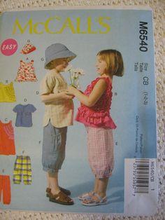 McCalls Toddlers Girls Boys Top Dress Shorts Shirt by Vntgfindz