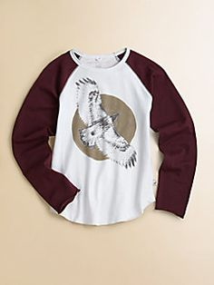 Stella McCartney Kids - Toddler's & Little Boy's Graphic Baseball Tee $43