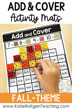 These fall-themed add and cover activity mats are perfect for math centers, small groups, and independent work. My kindergarten students love practicing their addition skills with interactive fall math mats such as apples, sunflowers, pumpkins, acorns, corn, scarecrows, & more. Your students will fall in love with this engaging, low-prep fall math activity!