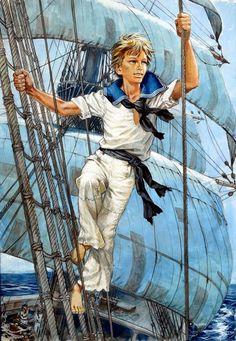 Pierre Joubert, illustrateur Marines, T1 et T2 Boy Illustration, Illustrations, Prince Eric, Adventure Of The Seas, Boys Life, Gay Art, Various Artists, Boy Scouts, Art Inspo