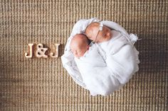 beautiful twin boy & girl newborn session