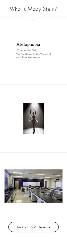 """""""Who is Macy Stein?"""" by queenofwordsandplots ❤ liked on Polyvore featuring quotes, text, fillers, words, phrase, saying, costumes, dance, ballet halloween costumes and ballerina halloween costume"""