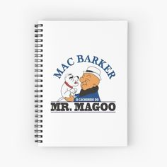 """Mr. Magoo"" Spiral Notebook by clecio | Redbubble Spiral, Notebook, Exercise Book, The Notebook, Journals"