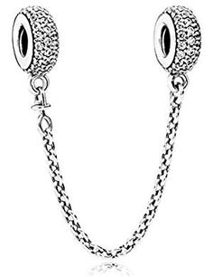You've collected the charms that celebrate your memories and mark your milestones, now keep them safe on your Pandora Moments bracelet with this sterling silver safety chain charm. Shop your Pandora Safety Chains here. Pandora Bracelet Charms, Pandora Jewelry, Charm Bracelets, Diy Necklace, Bracelet Designs, Silver Charms, Bling, Chain, Styling Tips