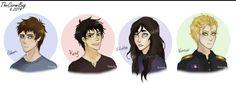 Adam, Kenji, Juliette, Aaron