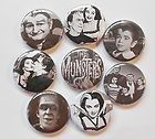 Munsters Halloween Flatback Pin Back Buttons 1 for Bows Embellishments - Halloween Flatback Pins Embellishments, Bows, Scrapbook, Buttons, Halloween, Ornaments, Arches, Bow, Decoration
