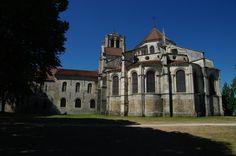 Iglesia de la Magdalena (Vézelay, Borgoña). Vista exterior de la cabecera.