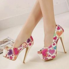 Club Wear Color Block Super High Peep-toe Thin Heels on Luulla Fancy Shoes, Crazy Shoes, Me Too Shoes, High Heels Stilettos, Stiletto Heels, Pumps, Zapatos Shoes, Shoes Heels, Designer High Heels
