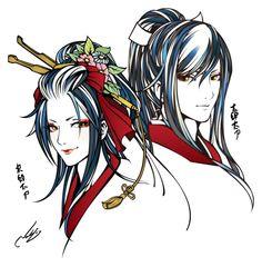 @yamamotonaoki 次郎太刀についで太郎太刀を描きました。ちゃんと兄弟っぽくできました。さて次は何が良いかなー。