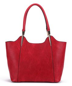 Take a look at this MKF Collection Red Structured Tote today!