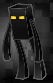 how to draw enderman, minecraft