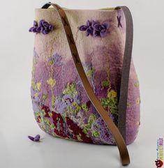 Women handbag designer felted bag Glade of Dreams ♡ by perfectfelt