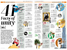 #Newspaper #Design #65 | Gulf News | Maybe this could be a design for senior memories or facts to know about each class.